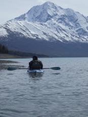 Kayaking on Eklutna Lake, Alaska