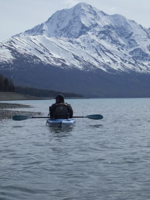Kayaking on Eklutna Lake, Alaska