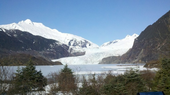 Mendenhall Glacier in March